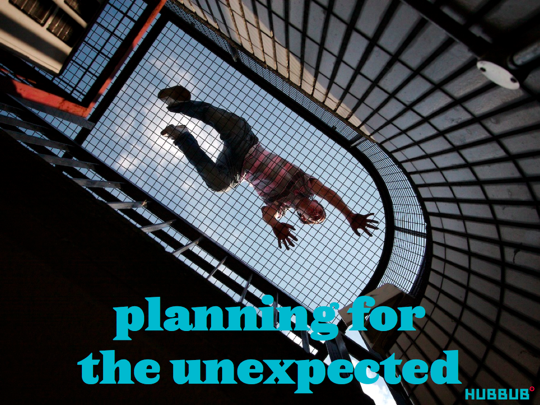 A parkour traceur, planning for the unexpected