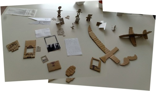 All the things that were made during one of the paper tinkering sessions