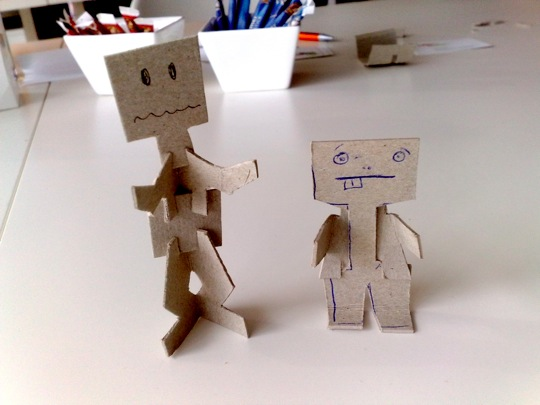 Paper craft puppet experiments