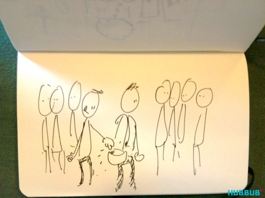 A sketch of pickpocket the game
