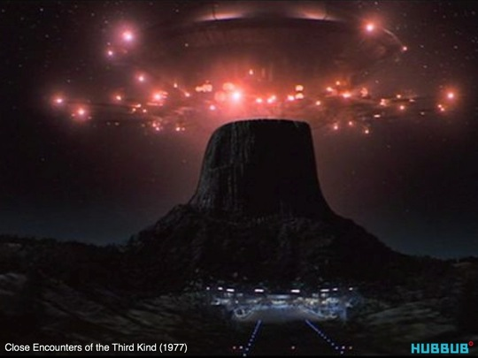 A shot from Close Encounters of the Third Kind
