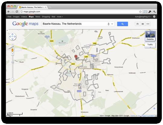 The borders of Baarle