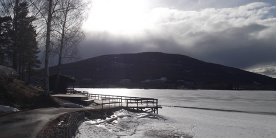 One of the views over the majestic frozen lake at the venue.