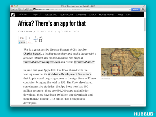 'Africa? There's an app for that' at Wired.co.uk