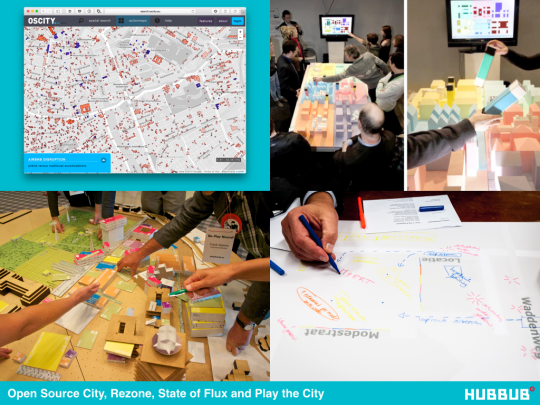 Open Source City, Rezone, State of Flux and Play the City